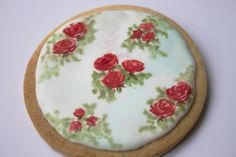 This timelessly elegant hand-painted vintage rose cookie by LEMONTREECAKESwould be...