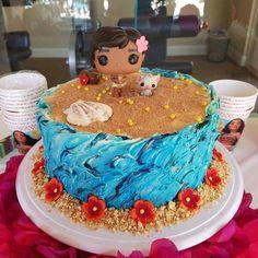 Moana cake buttercream