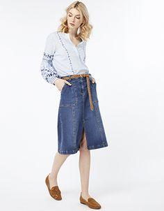 d3461963d7 Monsoon | Women & children's clothing. Next UkMonsoonCasual WeekendWeekend  StyleDenim SkirtBlueSkirtsStuff To BuyColor