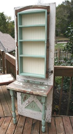 Woodworking Holz Build a potting bench out of an old wood door Refurbished Furniture, Repurposed Furniture, Furniture Makeover, Repurposed Doors, Salvaged Doors, Old Wood Doors, Wooden Doors, Furniture Projects, Diy Furniture