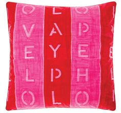 Cathie Maney Young Hearts European Pillowcase Pink