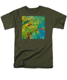 Abstract Men's T-Shirt  (Regular Fit) featuring the painting Merge Duo 1 by Noa Yerushalmi