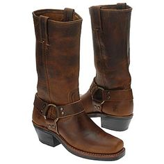 Frye Womens Harness 12R Boot Boots Dark Brown Leather