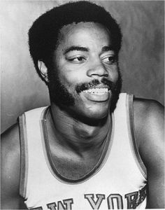 """This day in 1945, basketball legend Walt Frazier was born in Atlanta, GA. Playing 10 years for the NY Knicks, Frazier was nicknamed """"Clyde"""" for his quick hands and cool demeanor. He is a two-time NBA champion ('70, '73), NBA Hall of Famer ('87), and one of the 50 Greatest Players in NBA History ('96). #MarchMadness"""