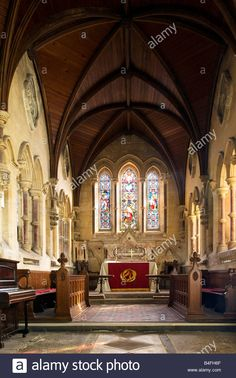 Interior of the typical English village country church of All Saint's, All… Britain Uk, Great Britain, English Village, Church Interior, British Countryside, Map Design, All Saints, Home Art, Barcelona Cathedral
