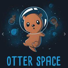 Kawaii otter space