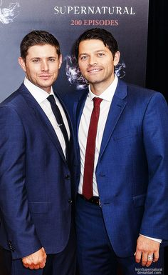 Talk about a beautiful couple...Dean and Cas