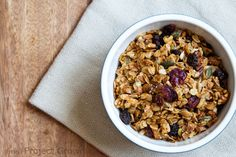 Granola base recipe - ratio & technique - so you can make any flavor combo you want or use what you have on hand. SO HELPFUL!
