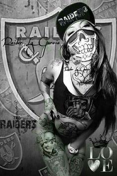pink and black raiders images skulls Gangsta Tattoos, Chicano Tattoos, Chicano Art, Oakland Raiders Logo, Raider Nation, Gangsters, Raiders Tattoos, Arte Lowrider, Raiders Cheerleaders