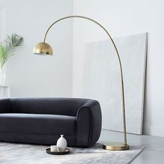Available in a premium quality, West elm provides the exceptional Overarching Metal Shade Floor Lamp. Buy now Overarching Metal Shade Floor Lamp at the best price with available delivery to Dubai, Abu dhabi, and all areas around UAE West Elm Floor Lamp, Brass Floor Lamp, Led Floor Lamp, Modern Floor Lamps, Cool Floor Lamps, Metal Floor, Glass Floor, Floor Mirror, Modern Wall
