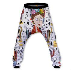 frida-baggy-front Baggy Shorts, Elastic Waist, Hoodies, Pants, Fashion, Trouser Pants, Moda, Slouchy Pants, Hoodie