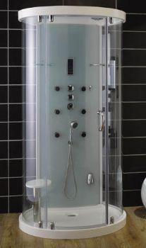 Aqua Glass One Piece Shower Stall Steam Room Shower, Steam Shower Cabin, Steam Shower Enclosure, Bathtub Enclosures, One Piece Shower Stall, Clean Shower Doors, Shower Units, Aqua Glass, Trendy Tree