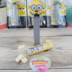 Minions, Toothbrush Holder, Sweets, Candy Bars, Candy Dispenser, Despicable Me, Gummi Candy, Toothbrush Holders, Candy