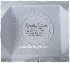 ScrappEllen: DT Kort og Godt-Nye og vakre tekster til en Bryllupskake i eske, med tag♥