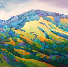 Diablo Springtime by Robin Purcell. 14 x 14.  When I lived in Walnut Creek, this is exactly what I saw everyday!  Love this, Robin!