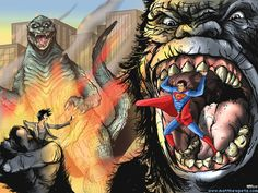 Superman vs Godzilla Vs King Kong