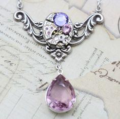 Steampunk Necklace Steam Punk Jewelry  by inspiredbyelizabeth, $49.50