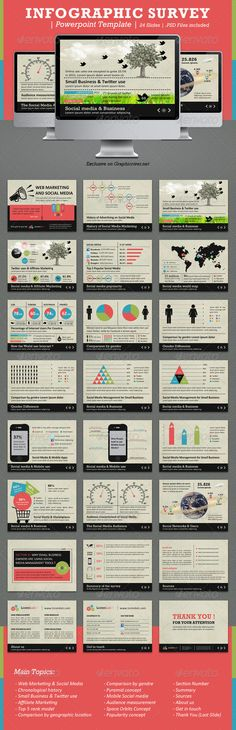 Presentation Templates - Infographic Survey Powerpoint Template | GraphicRiver