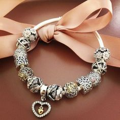50% OFF!!! $319 Pandora Charm Bracelet Pink. Hot Sale!!! SKU: CB01923 - PANDORA Bracelet Ideas