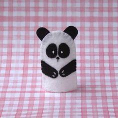 Panda Bear Finger Puppet  Felt Panda Puppet  by cherylasmith, $5.00