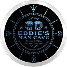 Personalized Social Club Man Cave Customized Name Neon Sign Clock