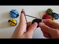 Fridge Ornament Magnet Ladybug Making Cute Crochet, Crochet Dolls, Crochet Yarn, Crochet Flowers, Crochet Stitches, Crochet Blanket Patterns, Amigurumi Patterns, Knitting Patterns, Crochet Keychain