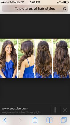 Cute hair style for curly hair
