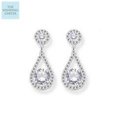 06fa4d500 diamond drop bridal earrings Wedding Earrings Drop, Diamond Drop Earrings,  Bridesmaid Earrings, Bridal