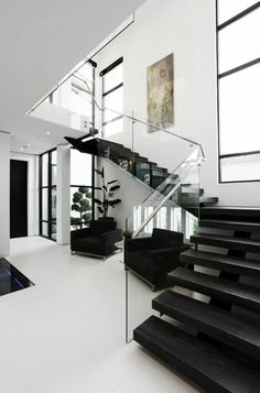 luxury house design, glass banister, transparent, modern staircase … - Home & DIY