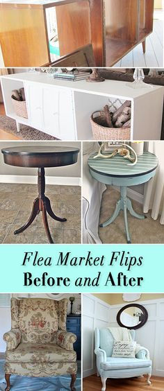 These before and after furniture makeovers will have you running out to the next flea market, yard sale or thrift store! makeover diy before and after flea markets Gorgeous Flea Market Flips : Before and After Furniture Makeovers Refurbished Furniture, Repurposed Furniture, Furniture Makeover, Painted Furniture, Chair Makeover, Dresser Repurposed, Upcycled Furniture Before And After, Furniture Projects, Furniture Making
