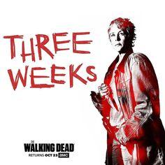 3 weeks!!! @Regrann from @amcthewalkingdead  #TWD is back in THREE weeks. #regrann #repost