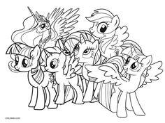 Coloriages à imprimer My Little Pony et Equestria Girls