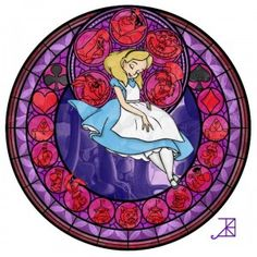 The Women Of Disney In Faux Stained Glass