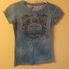 Hard Rock Cafe tshirt Hard Rock Couture Blue stretchy fit tshirt, women's small. Hard Rock Tops Tees - Short Sleeve