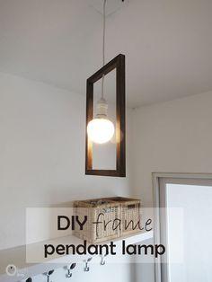 Ohoh Blog - diy and crafts: DIY minimal frame pendant lamp