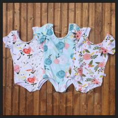 Adorable leotards for your precious little girl. Great for ballet, gymnastics or every day wear.  Size Chart NOTE* PLEASE ASK FOR SIZE 7-12 BEFORE MAKING A PURCHASE. THESE SIZES ARE MORE IN COST. THANK YOU.  SIZE HEIGHT CHEST WAIST HIP BACK LENGTH  12/18m 34.5-35 20 19.5 20 8.75 2T 36 21 20 21 9 3T 37.5 22 20.5 22 9.5 4 41 22.5 21.25 23 9.75 5 43 23.25 21.75 24 10.5 6 45.75 24 22.25 25 10.75 7 48 25 22.5 26.25 11.5 8 50.5 25.75 23 27.25 11.75 9 52.75 26.75 23.5 28.25 12.5 10 55.25 28 24.25…