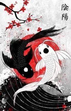 """Koi Fisch - Yin Yang"" Poster by Ruby-Art - . - ""Koi Fish – Yin Yang"" poster by Ruby-Art - Koi Fish Drawing, Fish Drawings, Art Drawings, Garden Drawing, Animal Drawings, Art Koi, Fish Art, Art Hippie, Yin Yang Koi"