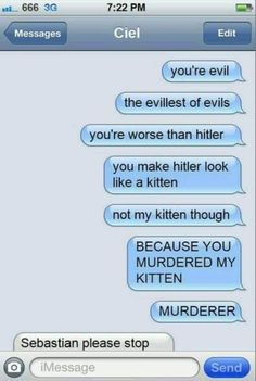 *sigh* Sorry Sebastian, but your cat was bothering me...