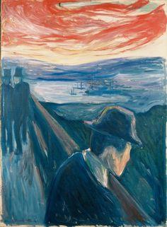 Edvard Munch, Despair. The guy totally looks like Tom Waits!