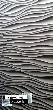 3D Wall Panels - Wave Wall Panels - Sculpted Wall Panels - Textured Wall Panels