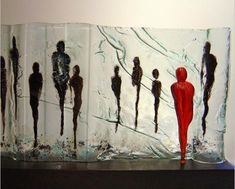 The Sentinel, fused and kiln cast glass by TERESA CHLAPOWSKI