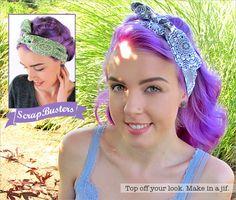 ScrapBusters: Vintage Style Headband Ties | Sew4Home
