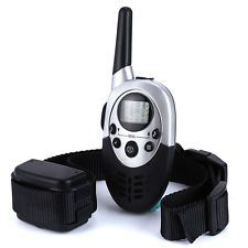hundreds of products with discount and free shipping 🎃🎃🎃   LCD Pet Dog Training Collar Rechargeable 1000m RC Electric Tool EU PLUG BLACK ⭐⭐⭐