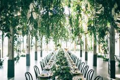 Wedding Inspiration :: Dining Under A Tent of Lush Greens