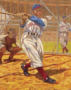 Oscar Charleston by Dick Perez Baseball Painting, Baseball Art, Baseball Players, Baseball Pictures, Sports Pictures, Mlb Uniforms, Negro League Baseball, Sports Art, Sports Posters