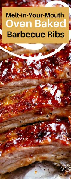 Bbq Ribs In Oven, Oven Cooked Ribs, Bbq Pork Ribs, Slow Cooker Ribs, Easy Barbecue Ribs Recipe, Cooking Ribs In Oven, How To Barbecue Ribs, Ribs On The Grill, Oven Baked Pork Ribs