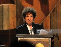 Honoree Bob Dylan speaks onstage at the 25th anniversary MusiCares 2015 Person…