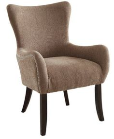 !nspire 'Aubree' Accent Chair - Beige - Sears   Sears Canada Wingback Chair, Armchair, Canada Shopping, Online Furniture, Mattress, Accent Chairs, Appliances, Beige, Bedroom