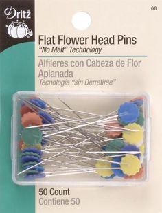 Flat Flower Head Pins-50/Pkg