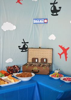 Airplane party Troy is 2 Airplane party Birthday party snacks
